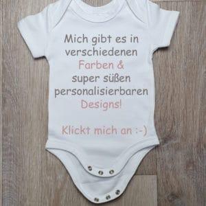Hello Baby Body personalisierbar